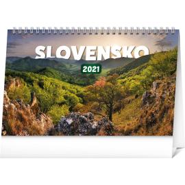 Stolní kalendář Slovensko 2021 SK, 23,1 × 14,5 cm