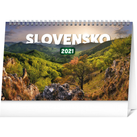 Desk calendar Slovakia 2021, 23,1 × 14,5 cm