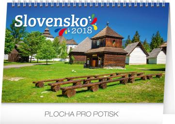 Stolní kalendář Slovensko SK 2018, 23,1 × 14,5 cm
