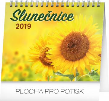 Stolní kalendář Slunečnice s citáty 2019, 16,5 x 13 cm