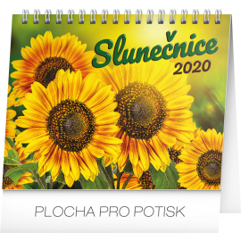 Desk calendar Sunflower planner with quotes 2020, 16,5 × 13 cm