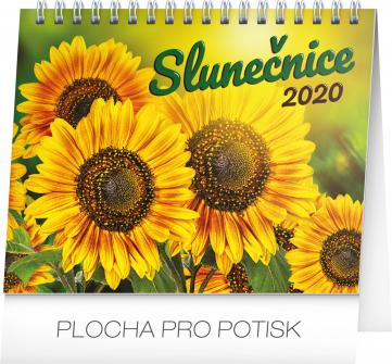 Stolní kalendář Slunečnice s citáty 2020, 16,5 × 13 cm