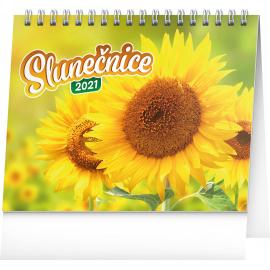 Stolní kalendář Slunečnice, s citáty 2021, 16,5 × 13 cm