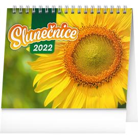 Stolní kalendář Slunečnice, s citáty 2022, 16,5 × 13 cm