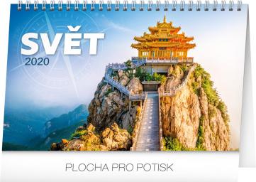 Stolní kalendář Svět 2020, 23,1 × 14,5 cm