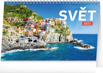 Stolní kalendář Svět 2021, 23,1 × 14,5 cm