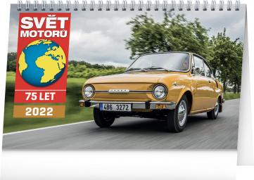 Stolní kalendář Svět motorů 2022, 23,1 × 14,5 cm
