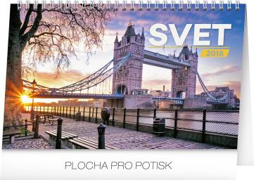 Stolní kalendář Svet SK 2018, 23,1 x 14,5 cm