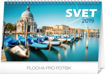 Stolní kalendář Svet SK 2019, 23,1 x 14,5 cm