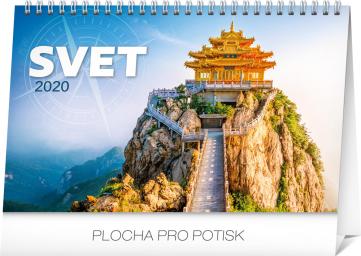 Stolní kalendář Svet SK 2020, 23,1 × 14,5 cm