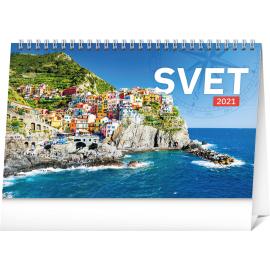 Stolní kalendář Svet SK 2021, 23,1 × 14,5 cm