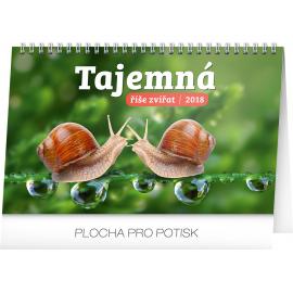 Desk calendar Tajemná říše zvířat 2018, 23,1 x 14,5 cm