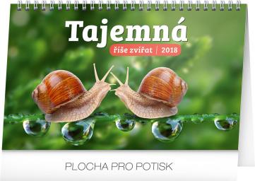 Stolní kalendář Tajemná říše zvířat 2018, 23,1 x 14,5 cm