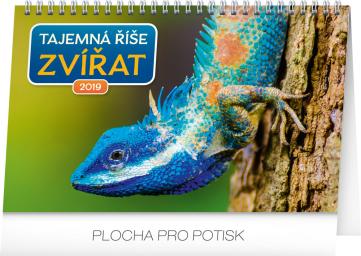 Stolní kalendář Tajemná říše zvířat 2019, 23,1 x 14,5 cm