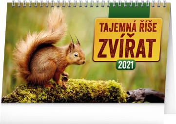 Stolní kalendář Tajemná říše zvířat 2021, 23,1 × 14,5 cm