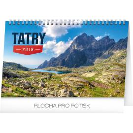 Stolní kalendář Tatry SK 2018, 23,1 x 14,5 cm