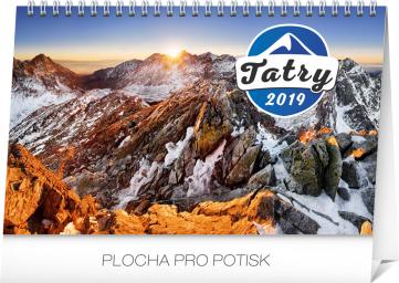 Stolní kalendář Tatry SK 2019, 23,1 x 14,5 cm