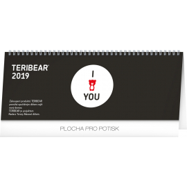 Desk calendar Teribear 2019, 33 x 12,5 cm