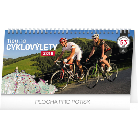 Desk calendar Tipy na cyklovýlety 2018, 30 x 16 cm