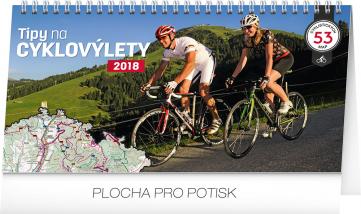 Stolní kalendář Tipy na cyklovýlety 2018, 30 x 16 cm