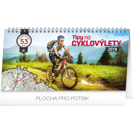 Desk calendar Bike travel 2019, 30 x 16 cm