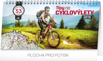 Stolní kalendář Tipy na cyklovýlety 2019, 30 x 16 cm