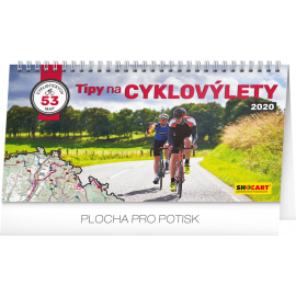 Desk calendar Bike travel 2020, 30 × 16 cm