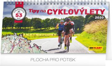 Stolní kalendář Tipy na cyklovýlety 2020, 30 × 16 cm