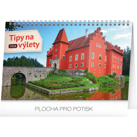 Desk calendar Tipy na výlety 2018, 23,1 x 14,5 cm