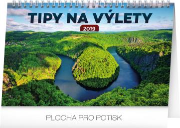 Stolní kalendář Tipy na výlety 2019, 23,1 x 14,5 cm