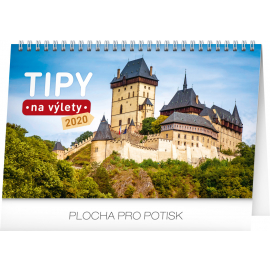Desk calendar Travel tips CZ 2020, 23,1 × 14,5 cm