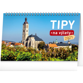 Desk calendar Tips for Trips CZ 2021, 23,1 × 14,5 cm