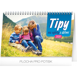 Desk calendar Travel tips with kids 2020, 23,1 × 14,5 cm