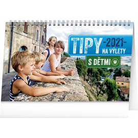 Stolní kalendář Tipy na výlety s dětmi 2021, 23,1 × 14,5 cm