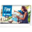 Stolní kalendář Tipy na výlety s dětmi 2022, 23,1 × 14,5 cm