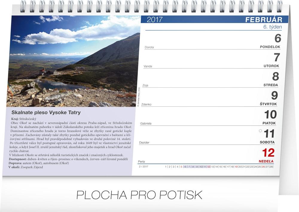 Desk Calendar Tipy Na V 253 Lety Sk 2017 23 1 X 14 5 Cm