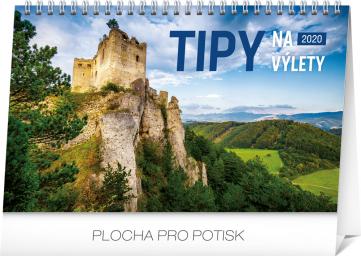 Stolní kalendář Tipy na výlety SK 2020, 23,1 × 14,5 cm