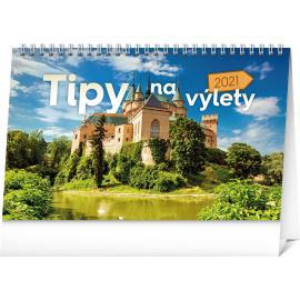 Desk calendar Travel Tips SK 2021, 23,1 × 14,5 cm