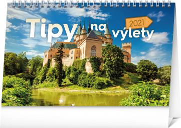 Stolní kalendář Tipy na výlety SK 2021, 23,1 × 14,5 cm