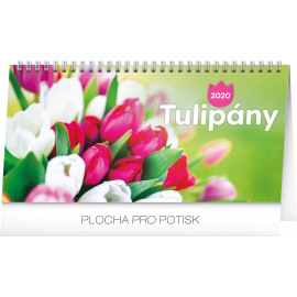 Desk calendar Poppies lined 2020, 25 × 12,5 cm