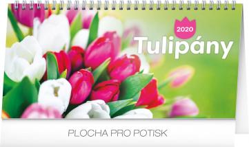 Stolní kalendář Tulipány řádkový 2020, 25 × 12,5 cm