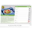 Stolní kalendář Vaříme a pečeme zdravě 2019, 23,1 x 14,5 cm
