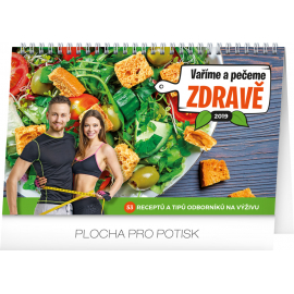 Desk calendar Healthy food 2019, 23,1 x 14,5 cm