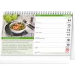 Stolní kalendář Vaříme a pečeme zdravě 2021, 23,1 × 14,5 cm