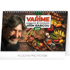 Desk calendar Cooking with Jiří Babica 2019, 23,1 x 14,5 cm