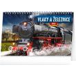 Stolní kalendář Vlaky a železnice 2022, 23,1 × 14,5 cm