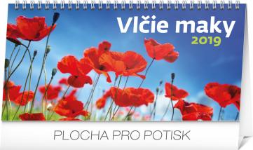 Stolní kalendář Vlčie maky riadkový SK 2019, 25 x 12,5 cm
