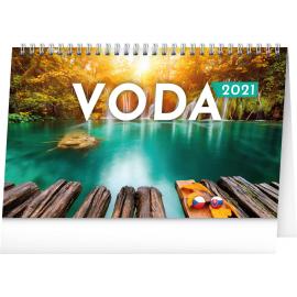 Desk calendar Water CZ/SK 2021, 23,1 × 14,5 cm