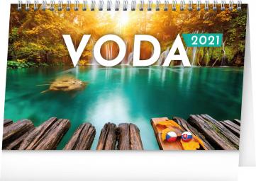 Stolní kalendář Voda CZ/SK 2021, 23,1 × 14,5 cm