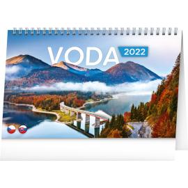 Stolní kalendář Voda CZ/SK 2022, 23,1 × 14,5 cm
